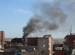 diyarbakır sur çatıdan dumanlar